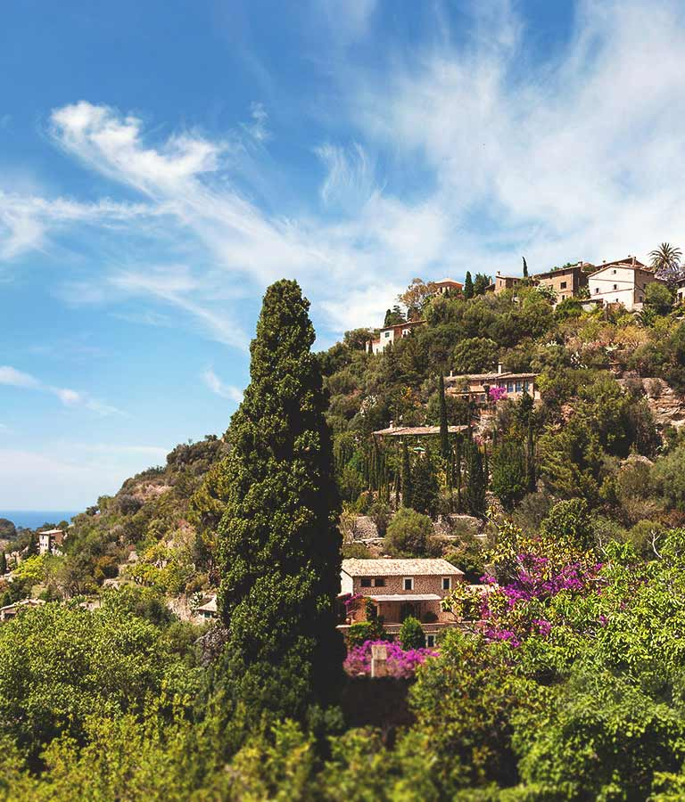 Image of Deià romantic village on a pretty hill