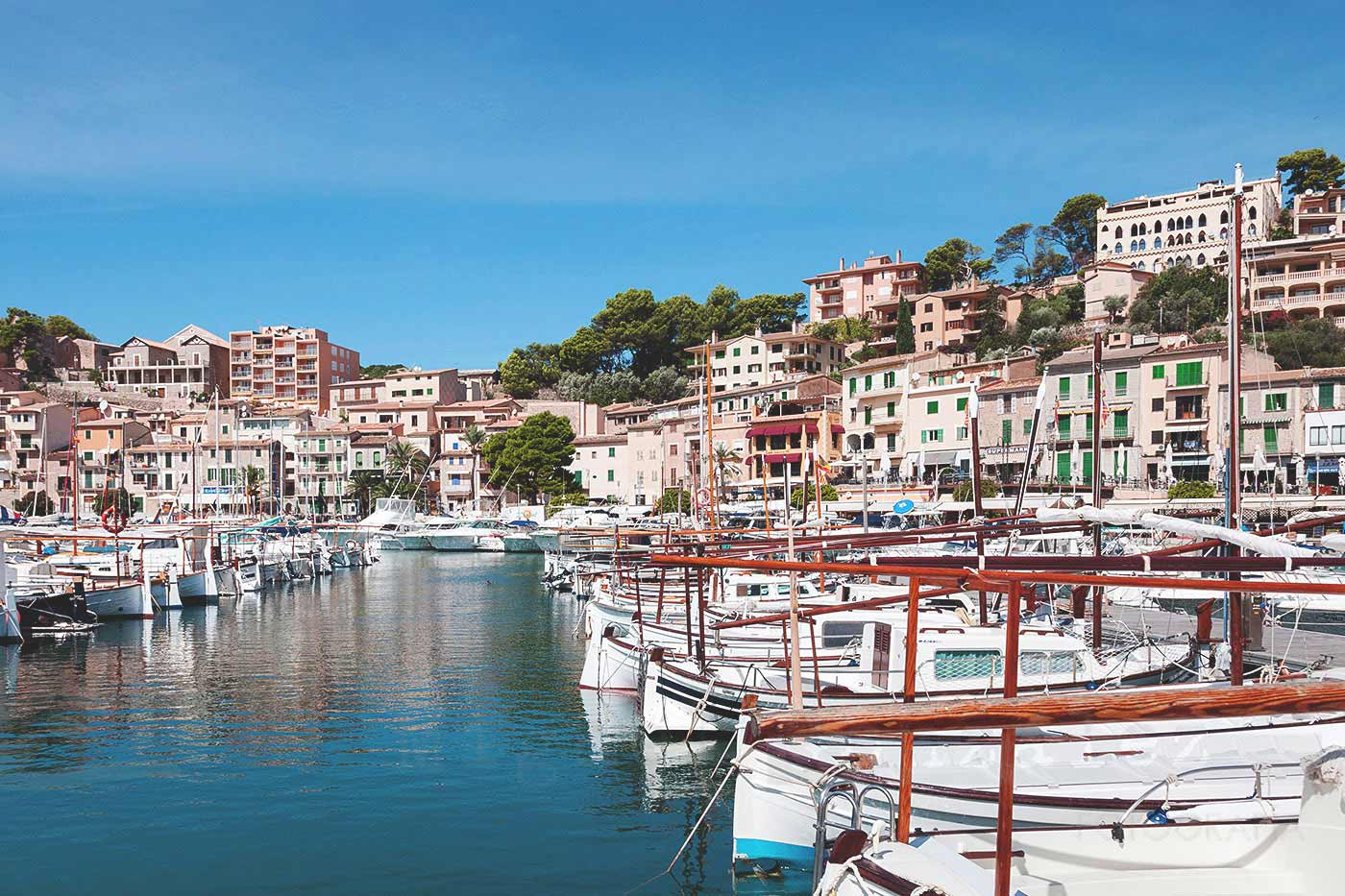 Image of Port of Sóller with boats on water