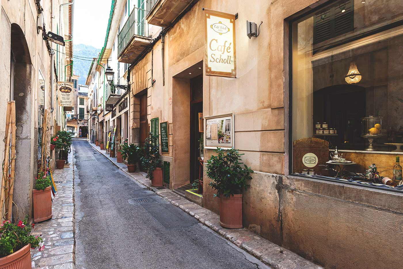 Image of Sóller authentic streets modernist art in Mallorca