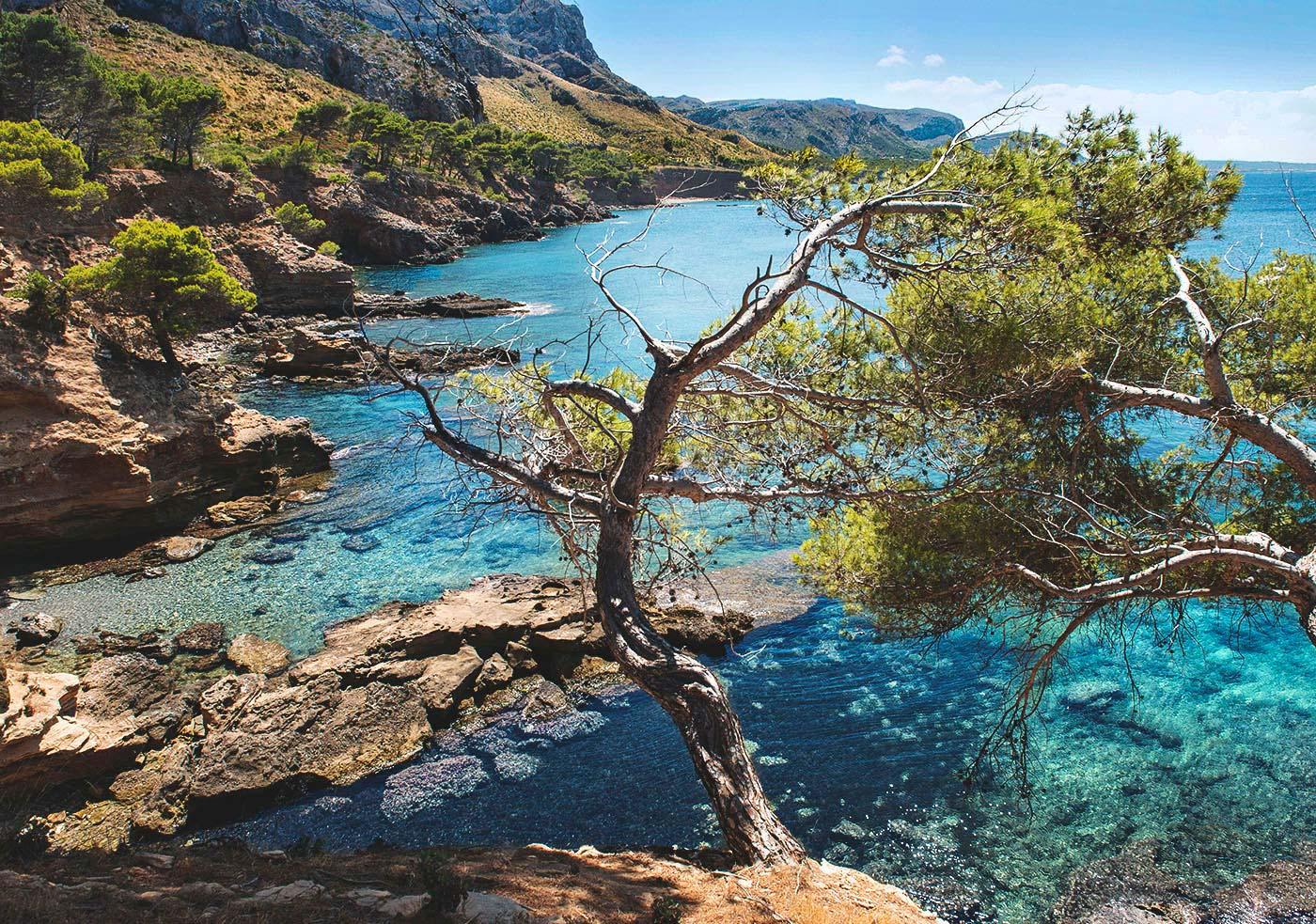 Image de Casas Mallorca sur la côte de Tramontane avec vue sur la mer